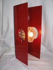 ANCIENNE LAMPE RECTANGULAIRE DES ANNÉES 1970 EN METAL PEINT DESIGN ITALIE