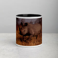 White Rhino Gildan Mug with Color Inside