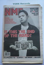 NEW MUSICAL EXPRESS NME - August 21 1993 - NEW ORDER / SENSER / U2 / LEVELLERS