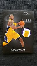 KOBE BRYANT 2010-11 PANINI ELITE BLACK BOX PATCH MATERIALS JERSEY PRIME #2/25 SP