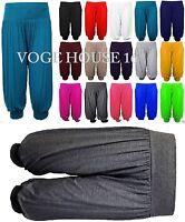 VH6 Womens Ladies Ali Baba Harem Short Pant Trousers Capri 3/4 Length Plus Size