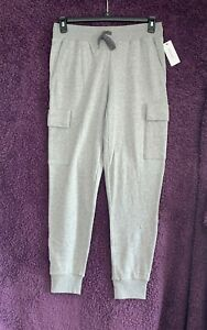 2(X)ist Men's Cotton & Polyester Grey Full Length Jogging Bottoms Size S $68