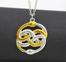 The NeverEnding Story Necklace Never Ending AURYN Ouroboros Snakes Silver Gold