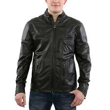 MATCHLESS Herren Sommer Leder Jacke G12 BLOUSON Black 113175 Größe L