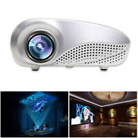 Mini Multimedia Cinema LED HD home theatre Projector AV TV VGA USB HDMI SD