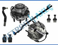 New 8pc Front Wheel Hub & Bearing Kit - SRW Coarse Thread From 3/22/99 4x4 w/ABS