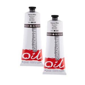 Daler Rowney Graduate Oil Paint 200ml Titanium White PACK OF 2
