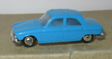 B old made in france 1966 micro norev oh 1/87 peugeot 204 light blue #532