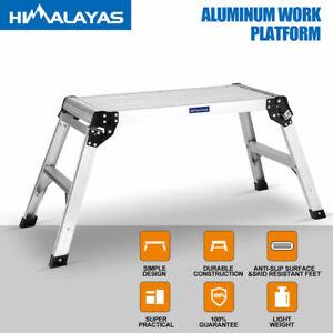 Portable Folding Aluminium Work Platform Bench Car Washing Painting Sawhorse