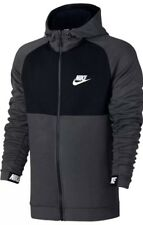 NEW Sz XXL Men's Nike Advanced 15 Fleece Full Zip Hoodie Grey/Black 861742-071