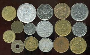 FRANCE   Prize(Lot) of 16 French currencies   ( aus )  ( 6 )