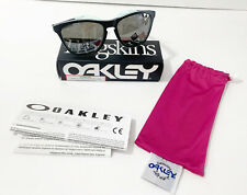 Oakley Frogskins Crystalline Collection Polarized Sunglasses Blue Clear NEW