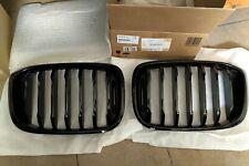 PAIR BMW Genuine X3 X4 G01 G02 MPerformance Black Kidney Grilles 51138091726 725