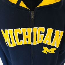 Michigan Wolverines Full Zip Up Hoodie Sweatshirt. Large