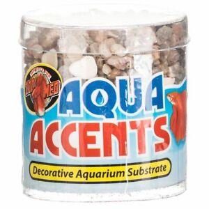 LM Zoo Med Aquatic Aqua Accents Aquarium Substrate Light River Pebbles .5 lbs