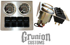 Air Ride Suspension Stainless Gauge Panel w/ Viair Gauges Manual Paddle Valves