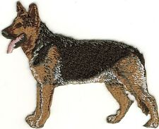"3.5"" Realistic Full Body Standing German Shepherd Dog Embroidery Patch"