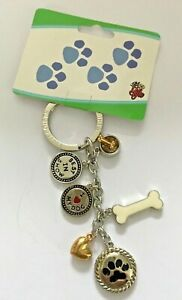 Dog Charm Keyring by Little Gifts