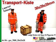 Spur G Lasercut 2x Transport Kiste 30x20x20mm aus Holz für z.B. LGB PIKO G