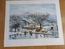 "SIGNED Maxwell Mays ""HALF WAY HOUSE"" Folk Art Print/Litho s/n 89/1000, RI"