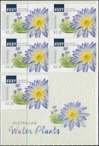 MUH Australian Water Plants 5×$2.30 Self-Adhesive Stamp Sheetlet 2017