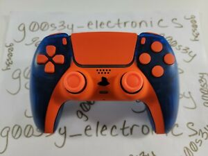 New Frosted Blue Sony PS5 DualSense Wireless Controller w/ Orange Accents