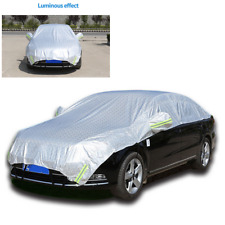 Car Cover Waterproof Sun Proof Shade Reflective Strip Outdoor Rain Protection