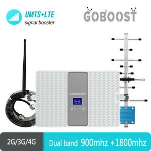 Gogoost Dual band GSM 900mhz DCS 1800mhz Phone Signal Booster Full band Antenna