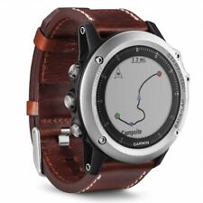Garmin fenix 3 Sapphire Multisport GPS Training Watch, Silver with Leather Band