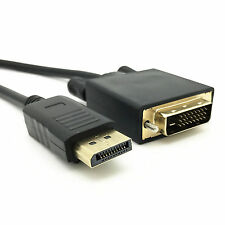 6 Feet Gold Plated DisplayPort DP to DVI-D Male Dual Link Cable Adapter 1080p