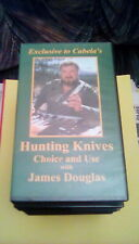Exclusive To Cabela's - Hunting Knives Choice and Use with James Douglas VHS OOP