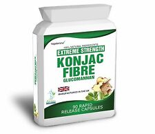 90 Glucomannan Konjac Fibre Extreme Capsules Weight Loss Diet 3000mg Daily Dose