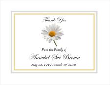 12 Sympathy Personalized Thank You Cards ~ Sweet Daisy