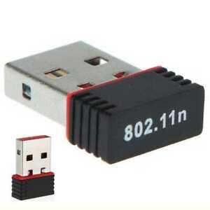 Mini 100MPS USB 2.0 WiFi Wireless WLAN Network Adapter Karte Stick Schwarz