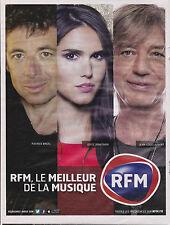 RADIO RFM LE MEILLEUR DE LA MUSIQUE - PUBLICITE PRESSE PAPER ADVERT- ANNEE 2014
