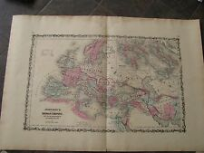 1864 Original Huge Map of the Roman Empire, Italy, France, Spain, Greece, Africa