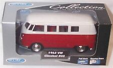 1962 VW Classic Bus Red 1-38 Scale  Mib