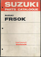Suzuki FR50-K (73-75) Genuine Parts List Catalogue Book Manual FR 50 Moped CA47