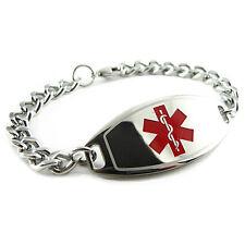 MyIDDr - Unisex -DIABETES TYPE II Medical Alert Bracelet, PRE-ENGRAVED