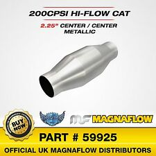 """2.25"""" 57mm Magnaflow Universal Sports Catalytic Converter 200 Cell Cat 59925"""