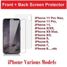 Front+Back Tempered Glass Screen Protector Film For iPhone XS 11 ProMax XR 8 7 6