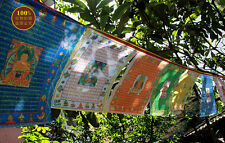 8 FT! BLESSED TIBET TOP QUALITY GOLD GILT WIND HORSE PRAYER FLAG : 10 PCS COMBO