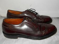 Haig & Son WING TIP Brown Lace Up Mod Retro Oxfords 9 Mens Used