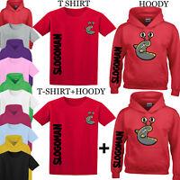 Slogoman T-Shirt Kids Top Gaming Youtuber Gamer YS-YXL Vlogger Kids Gift Hoody
