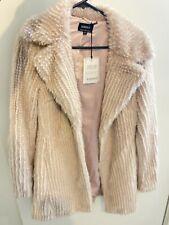 ( Rrp $150)Bardot Waterfall Jacket Faux Fur Light Pink Size 10