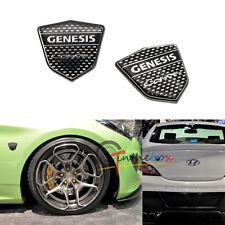 2PC High Quality Chrome Trunk Lid Badge Emblem Sticker For Hyundai GENESIS COUPE