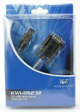 New Kingwin 5 foot USB to Serial Converter 9 pin DB9 RS232 Plug & Play Priority