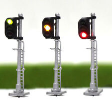 JTD1503GYR 3PCS  Model Railroad Train Signals 3-Lights Block Signal N Scale 12V