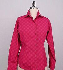 Thomas PINK Women's Career Top Shirt Blouse Tailored button Sz 10  Made Ireland