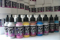 VALLEJO GAME AIR ACRYLIC AIRBRUSH PAINTS SET OF 51 x 17ml BOTTLES